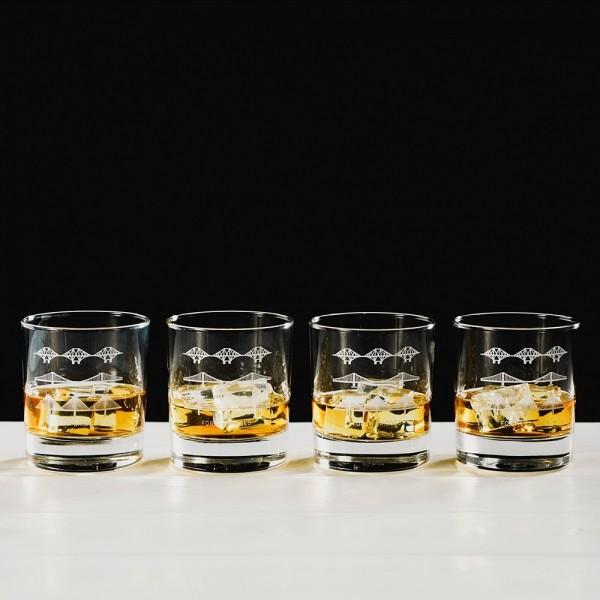 SELBRAE HOUSE, Tumblerglas / Whisky - Set, Schottlandbrücke