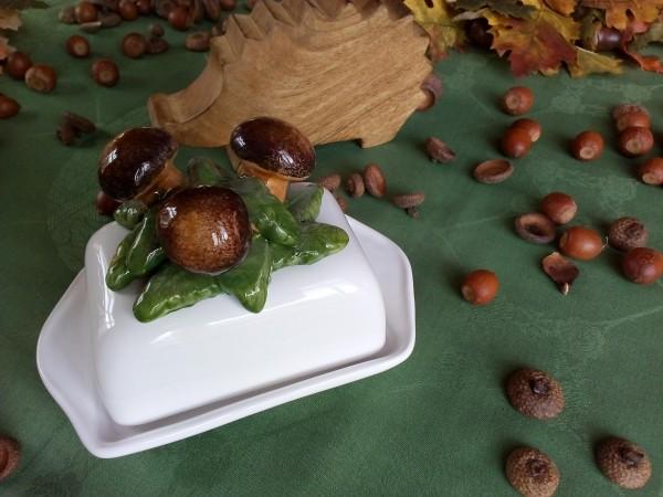 Butterdose, Keramik, PILZE