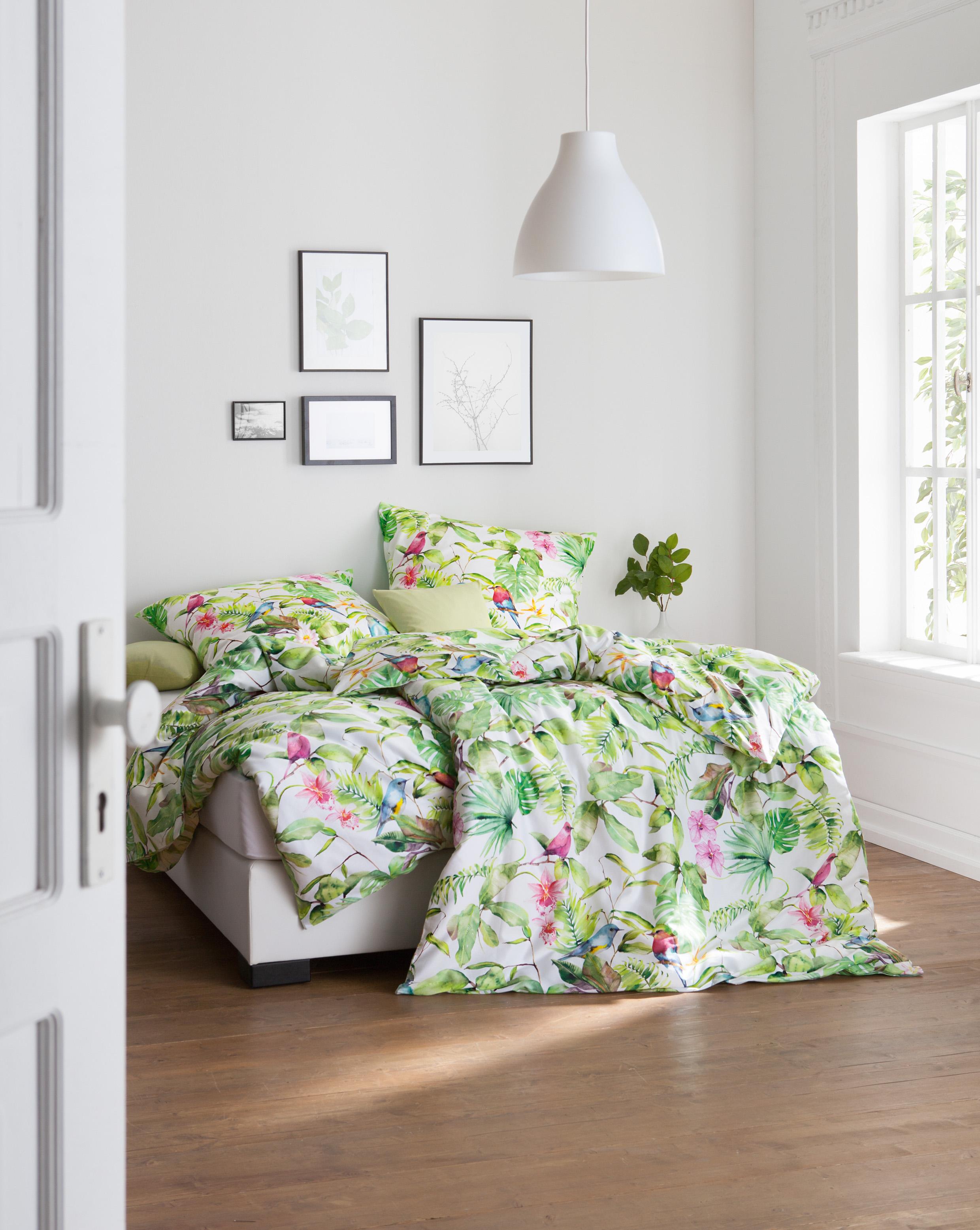 Dschungelfans Werden Die Neue Bettwäsche Lilou Mit Orchideen Vögel