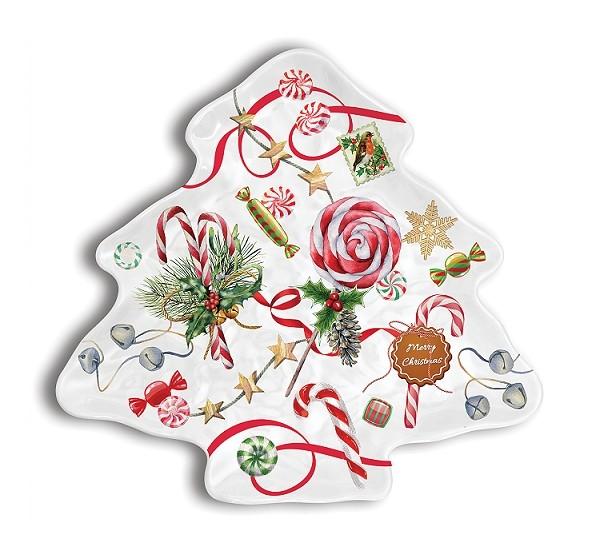 MDW, PEPPERMINT, Weihnachtsplatte in Baumform